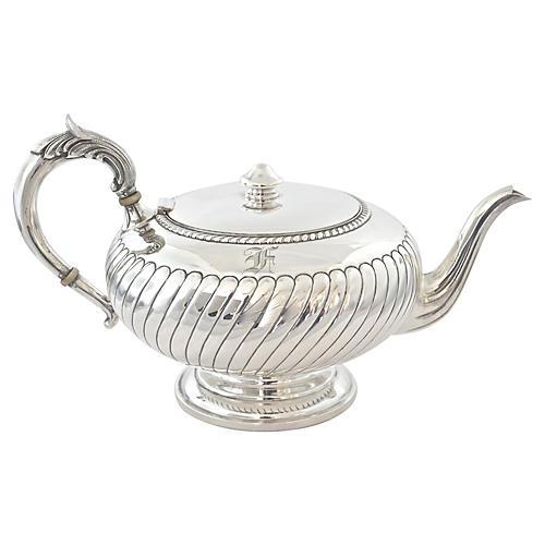 Sterling Silver Monogram Tea Pot