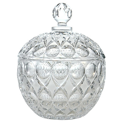 Crystal Punch Bowl w/ Lid