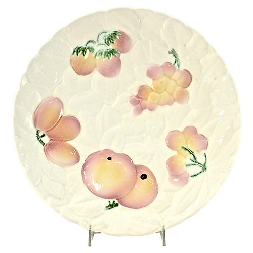 Ivory French Majolica Fruit Charger