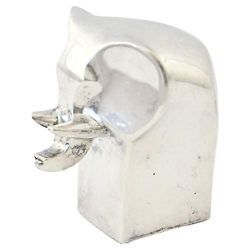 Silver Elephant Paperweight