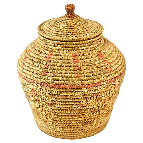 Small Lidded Basket