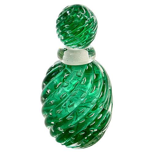 Green Murano Bullicante Perfume Bottle