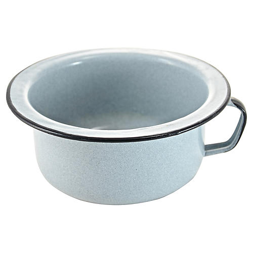 Gray Enamelware Bowl