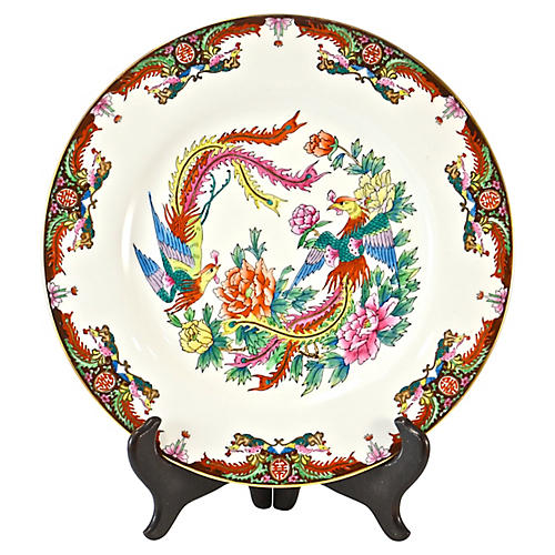 Chinese Double Phoenix Plate w/ Stand
