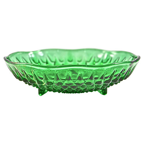 Emerald Footed Bowls, S/4