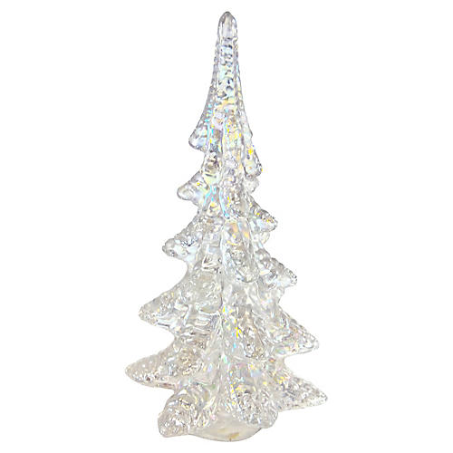 Pearl Iridescent Art Glass Tree