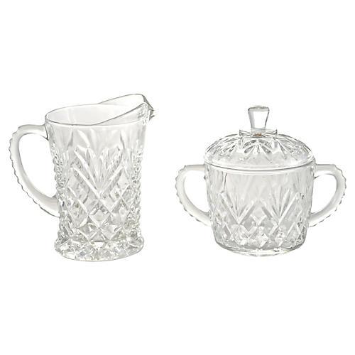 Pineapple Pattern Cream & Sugar Set