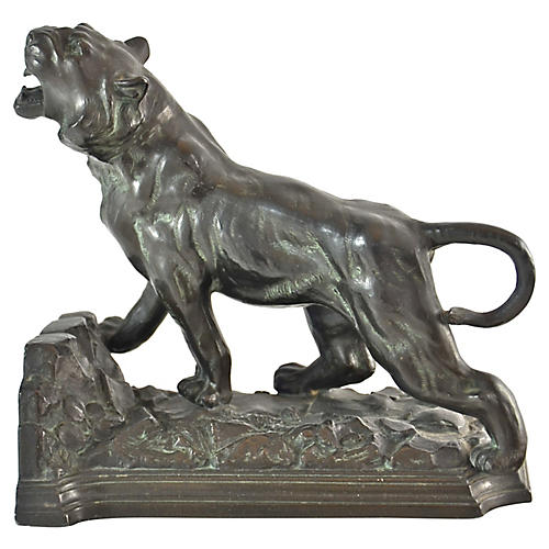 1920s Roaring Tiger Figure