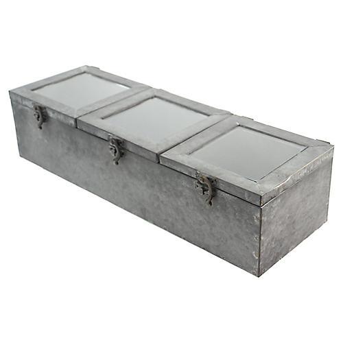 Three Window Zinc Box