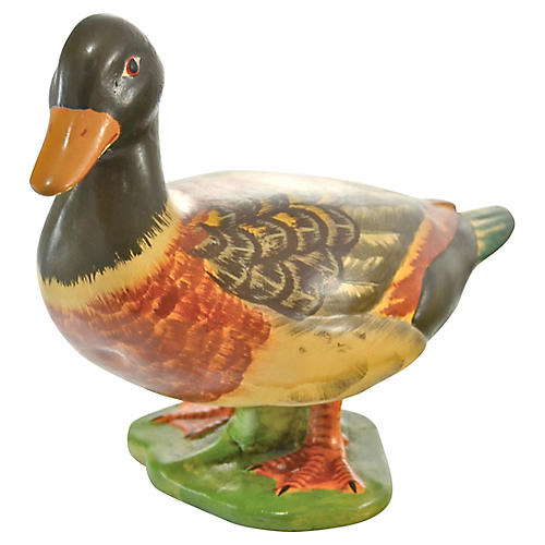 Midcentury Italian Pottery Duck
