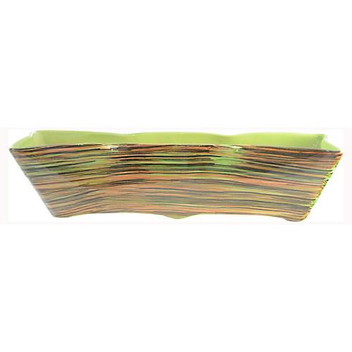 Midcentury Green Stripe Centerpiece
