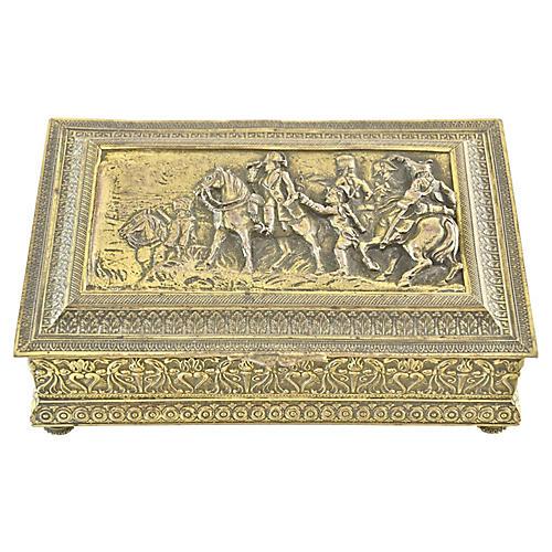 Antique French Gold Gilt Box