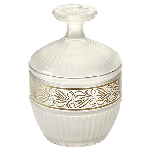 Fluted Frost Glass Jar