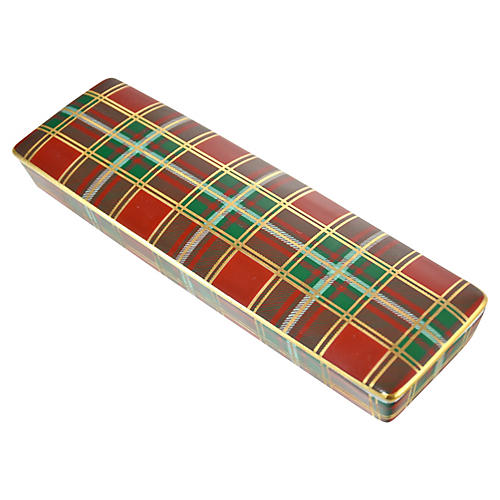 Red, Green & Gold Plaid Box