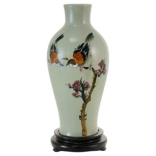 Chinese Celadon Sparrow Vase