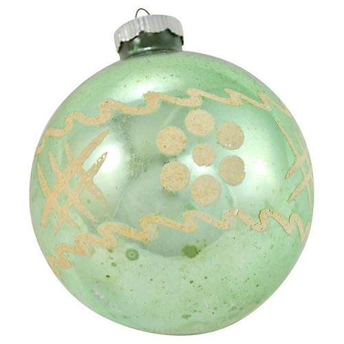 Shiny Brite Jumbo Green Glass Ball