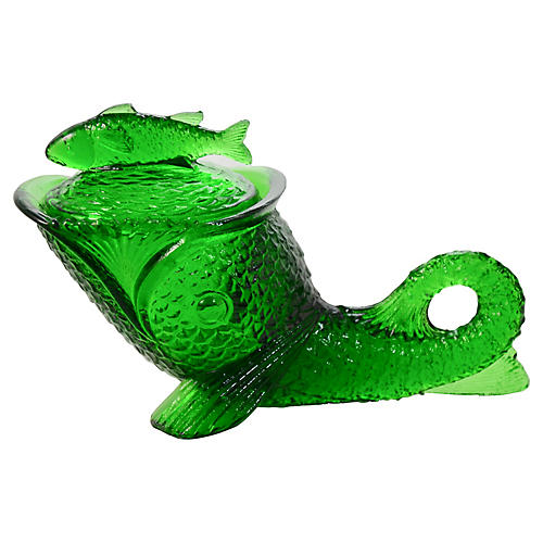 Emerald Green Lidded Fish