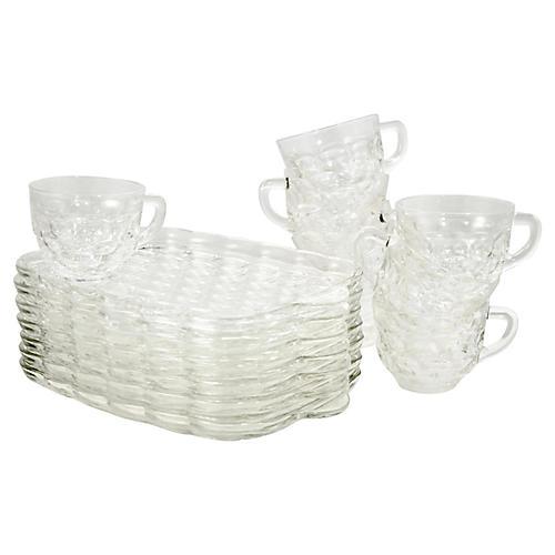Midcentury Snack Trays & Cups, S/8
