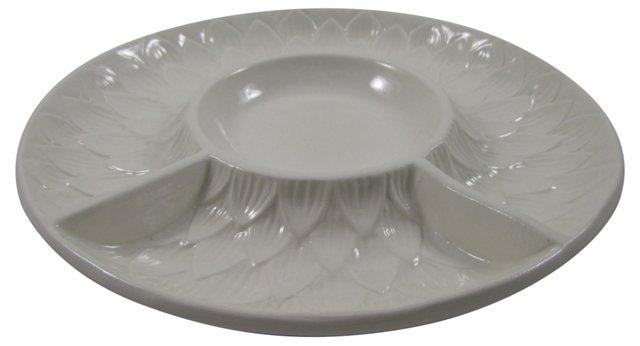 Italian Ceramic Crudité Platter