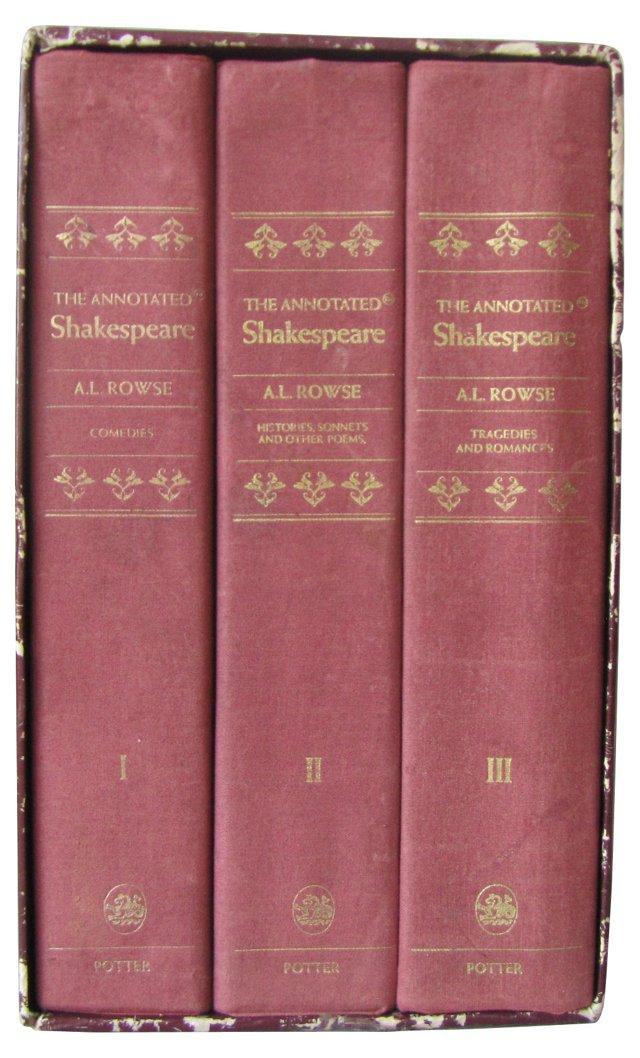 The Annotated Shakespeare, Vols I-III