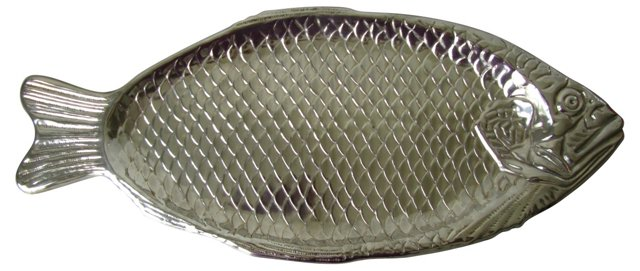 Silverplate Fish Serving Platter