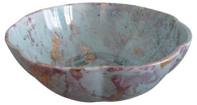 Burns of Hollywood Marbled Ceramic Bowl