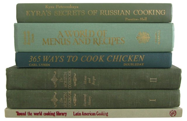 Green Cookbook Collection, S/6
