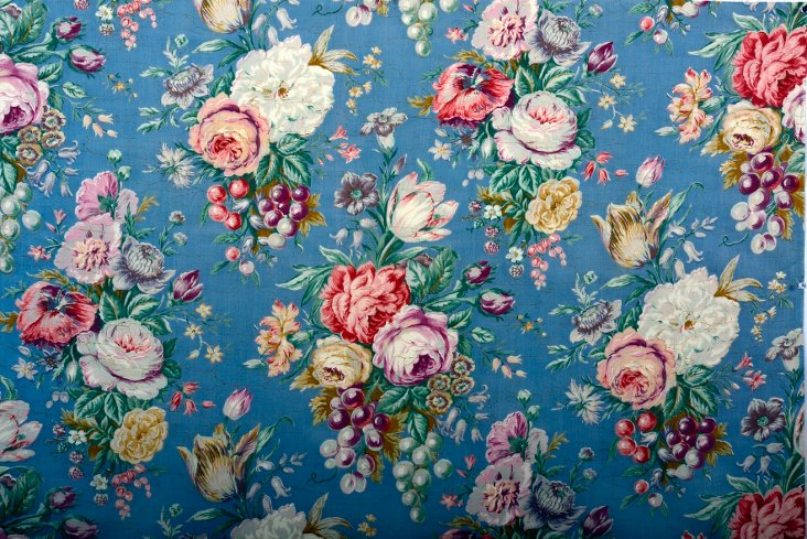 Antique French Floral Fabric