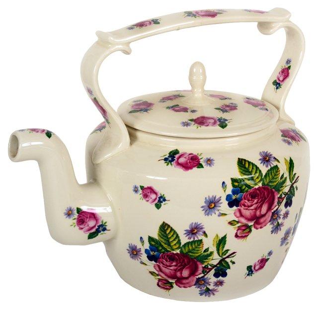 English Transferware  50-Cup Teapot