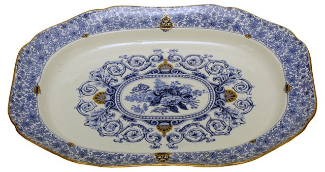 Mid-19th-C. English Platter
