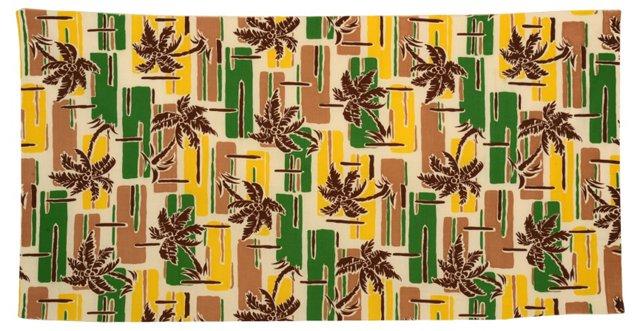 1950s Tropical   Textile Fragment