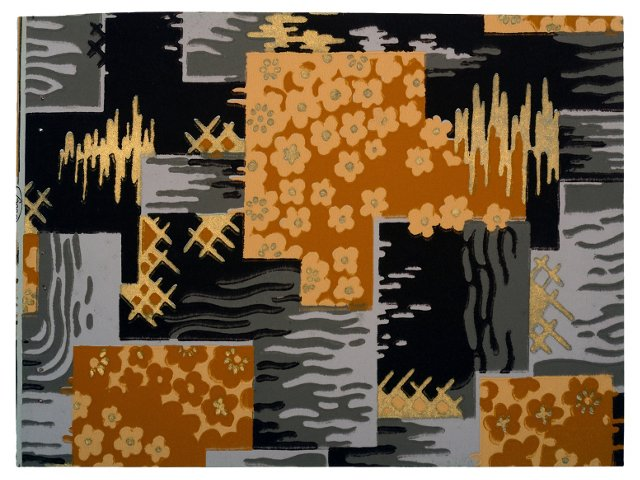 Color Block French Wallpaper Sample