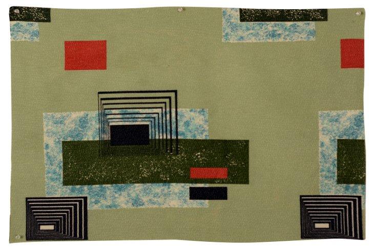1950s Geometric Fabric Fragment