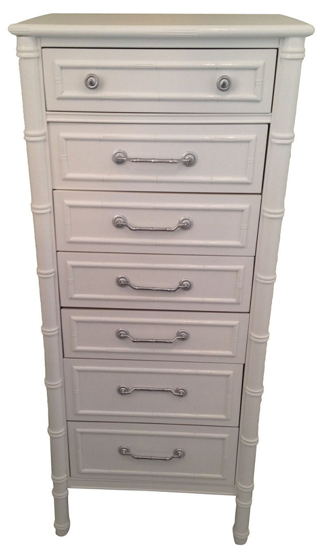 Faux-Bamboo Tall   Chest