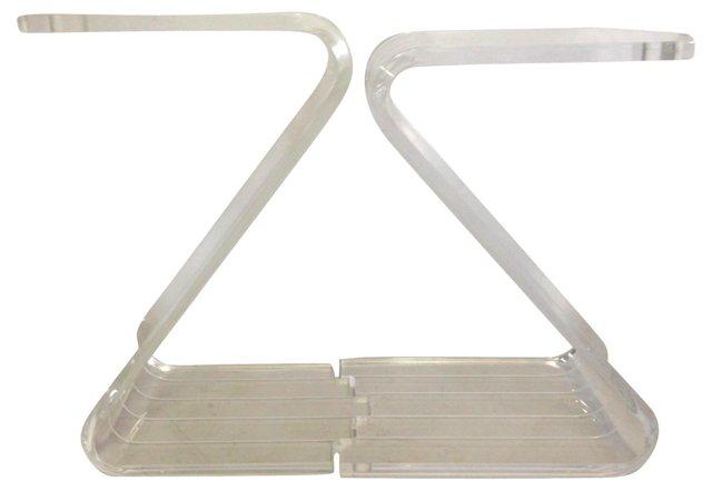 Lucite Z-Form Tables, Pair