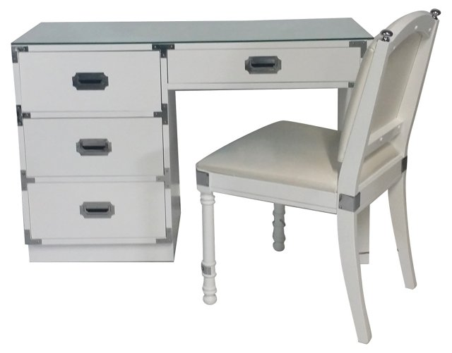 Bernhardt Campaign-Style Desk & Chair