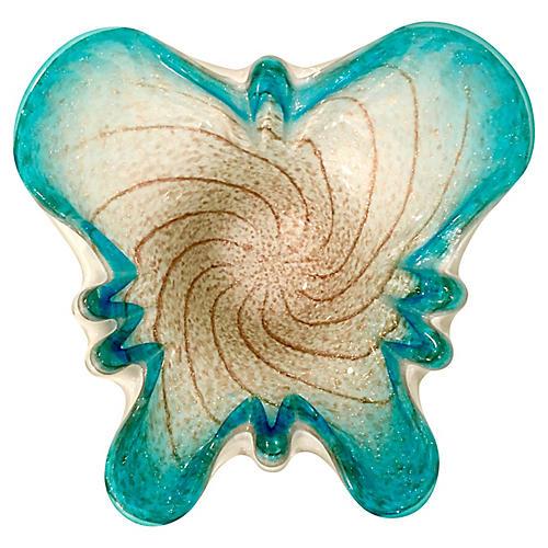Italian Murano Glass Butterfly Dish