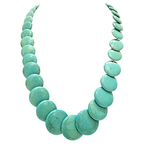 1970s Turquoise Bead Necklace