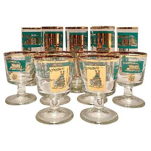Collin's Steamboat Glasses, S/14