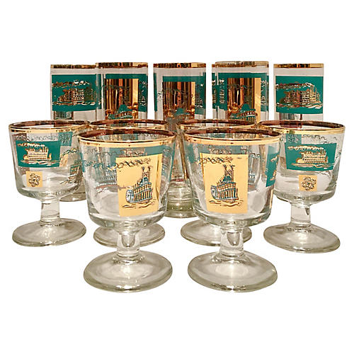 Collin's Steamboat Glasses, S/14