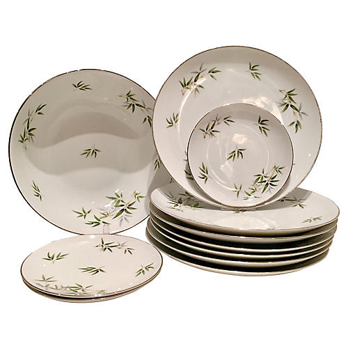 Japanese Dinnerware Set, 11 Pcs