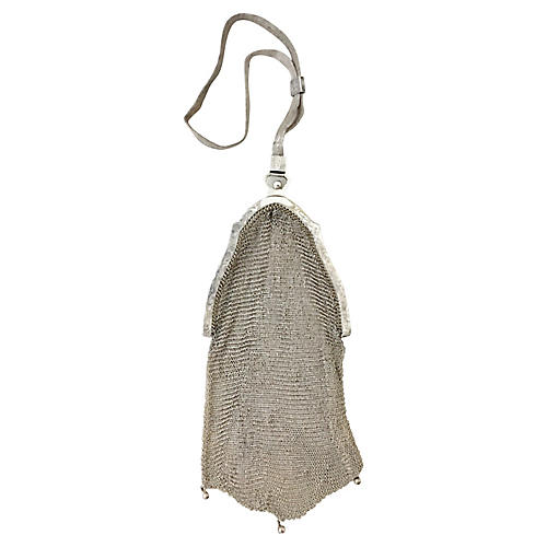 Whiting & Davis Sterling Mesh Purse