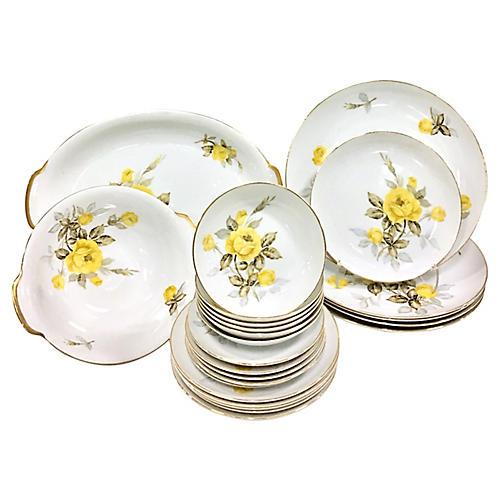 Japanese Porcelain Dinnerware, 24 Pcs