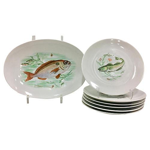 German Porcelain Dinnerware, 7 Pcs