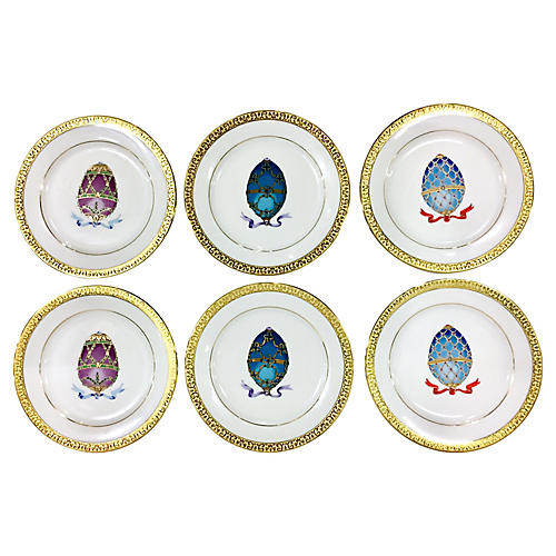 Royal Buffet Egg Plates, S/6