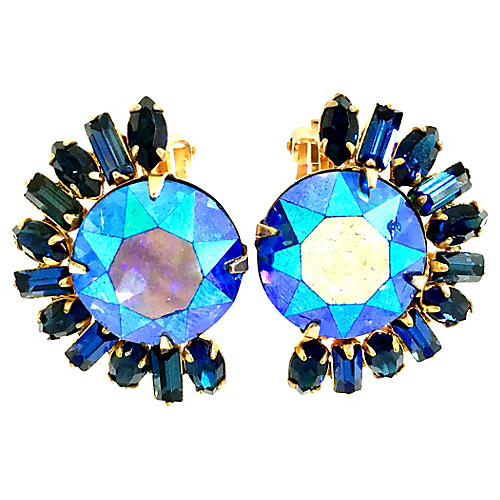 Austrian Crystal Earrings By, Caviness