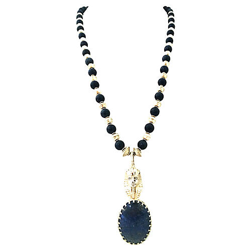 Sterling & Lapis Pharaoh Necklace