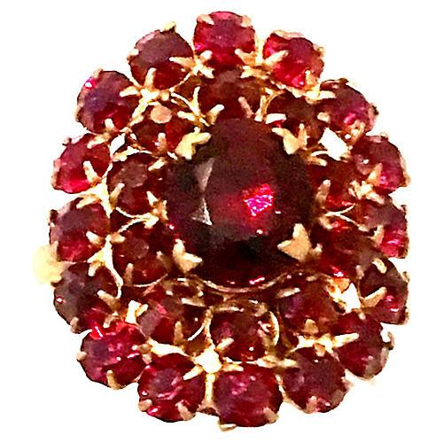 Rose Cut Garnet Ring