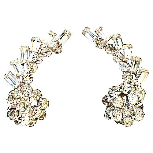 Silver & Austrian Crystal Earrings