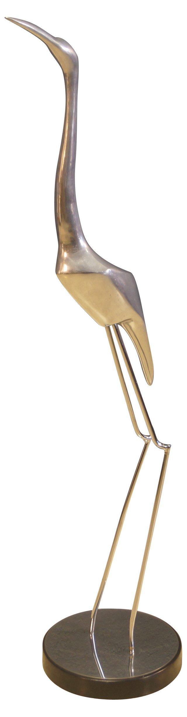 Aluminum Heron Sculpture by C. Jeré
